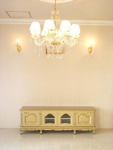輸入家具■オーダー家具■プリンセス家具■ラ・シェル■ローボード160■ゴールド色