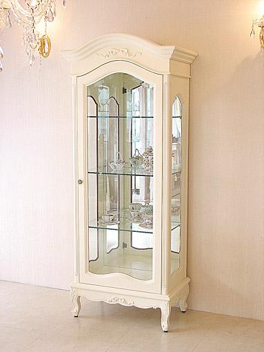 輸入家具■オーダー家具■プリンセス家具■ラ・シェル■ショーケース■オードリーリボンの彫刻■ホワイト色