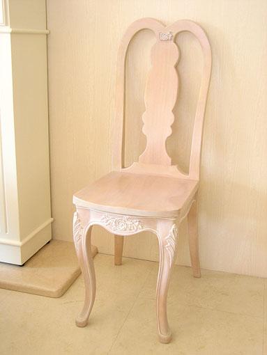 輸入家具■オーダー家具■プリンセス家具■プリマヴェーラ■チェア■薔薇の彫刻■ピンクベージュ