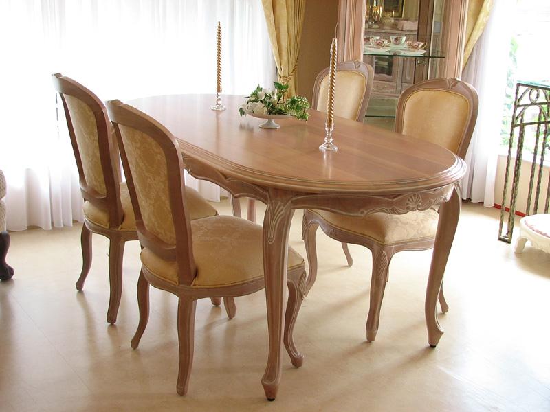 輸入家具■猫脚■ロココ調■プリンセス家具■ラ・シェル■ダイニングテーブル160