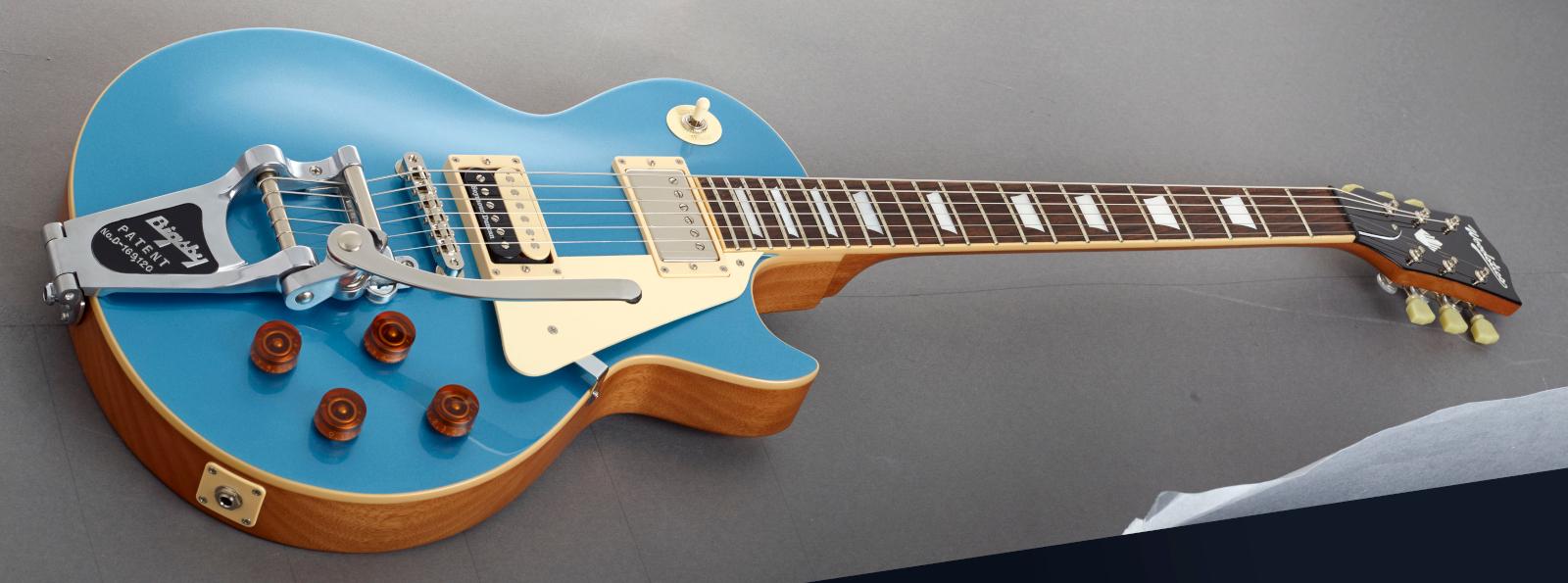【初回入荷】【送料無料】Woodstics Guitars Ken Yokoyama Produced Model WS-LP-STD/B ウッドスティック レスポール 横山健 Pelham blue【即納可能】