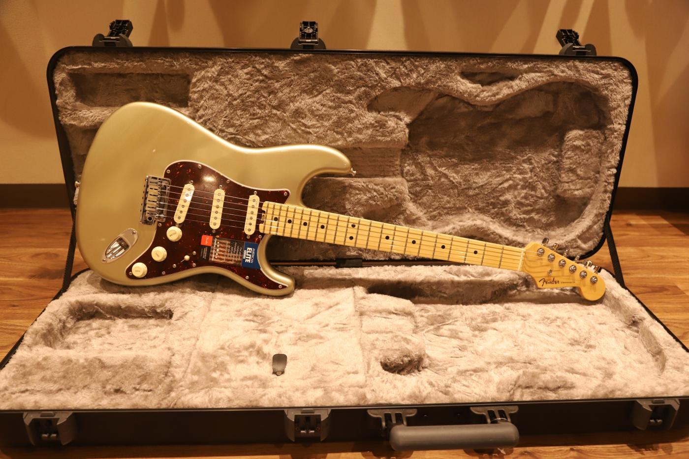 【送料無料】Fender AMERICAN ELITE STRATOCASTER® Champagne フェンダー アメリカン エリート ストラト