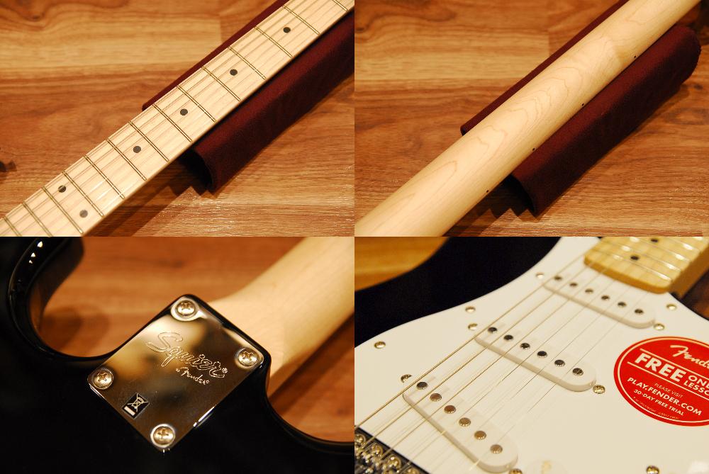 Squier by Fender 스크와이야[0310602506] Affinity Series Stratocaster Maple BLK(Black) 스트라트캐스타/메이풀지판/블랙/참가 신청 모델/입문자 전용