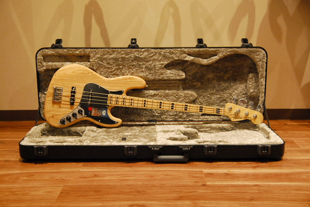 【送料無料】Fender フェンダー [0197002721] American Elite Jazz Bass® Ash NAT(Natural) #US16129578 エリート/ジャズベース/アッシュ/ナチュラル/アメリカ製