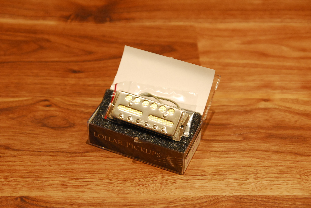 Lollar Pickups roller pickup Gold Foil Standard Mount Nickel (Bridge) gold  foil / standard mount / bridge / nickel
