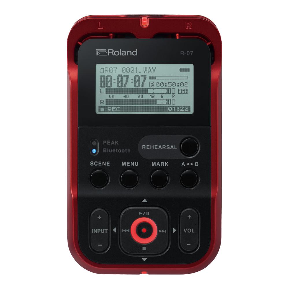 【送料無料】Roland R-07 High Resolution Audio Recorder RD(Red)ローランド/ハイレゾ・オーディオ・レコーダー/レッド(赤)/高音質/ワイヤレス・リモコン対応/Bluetooth