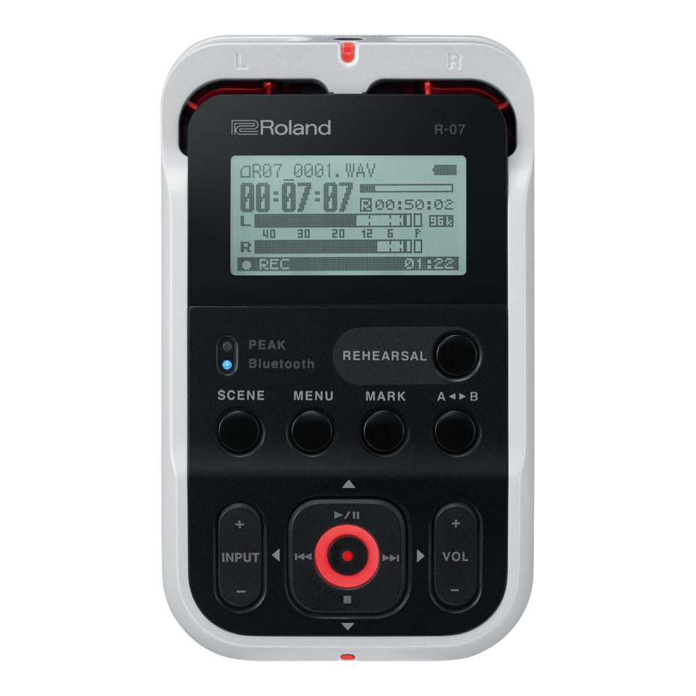 【送料無料】Roland R-07 High Resolution Audio Recorder WH(White)ローランド/ハイレゾ・オーディオ・レコーダー/ホワイト(白)/高音質/ワイヤレス・リモコン対応/Bluetooth