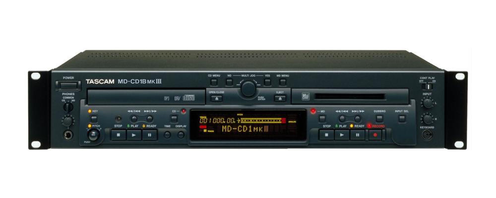 【取り寄せ品】【送料無料】TASCAM タスカム MD-CD1BMKIII CDプレーヤー/MDレコーダー/[MD-CD1BMK3]