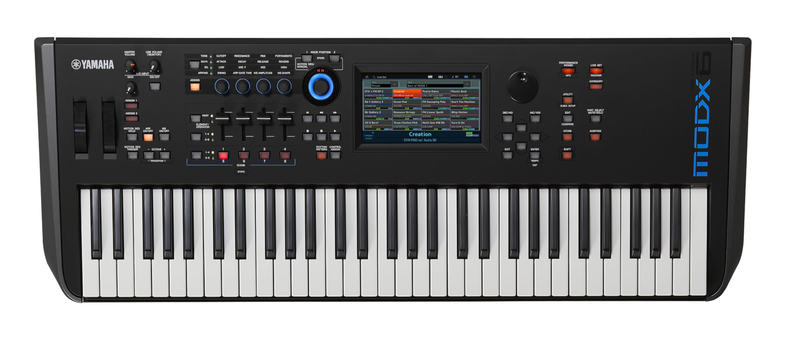 Under a Yamaha MODX6 61 keyboard light weight synthesizer / MODX release  commemorative campaign!