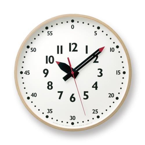 【送料無料】fun-pun clock [ふんぷんくろっく L] モダン ナチュラル シンプル お洒落 土橋 陽子デザイン YD14-08L Lサイズ アナログ【タカタレムノス Lemnos】