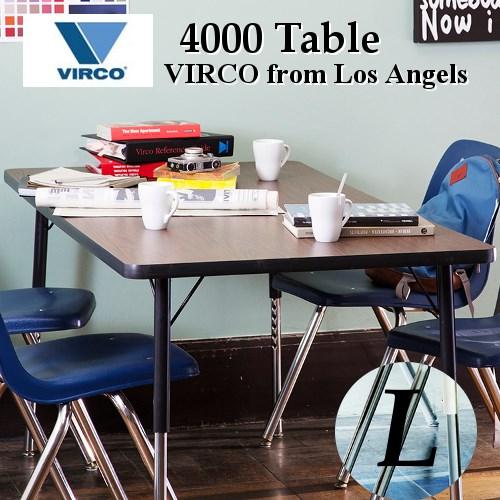 【WN 現在欠品中・未定】4000 Table(L)[アートワークスタジオ.VIRCOバルコ]実用性と耐久性に優れたヴァルコユニバーサルデザイン。米国製机テーブル