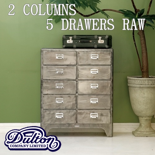 【送料無料】2 COLUMNS 5 DRAWERS [RAW]【ダルトン DULTON】100-164 5段 2列 チェスト インテリア 家具 アメリカンテイスト 西海岸 インダストリアル