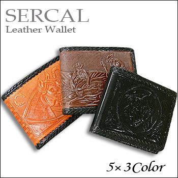 -メール便送料無料- ※2個までOK SERCAL サーカル Leather Wallet スーパーセール期間限定 @3color SL326 2つ折財布 400 \2 通常便なら送料無料 レザー 本革 smtb-kd メキシコ ウォレット
