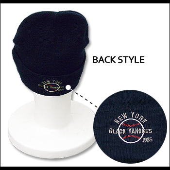 BLUE MARLIN (Marlin)  NEW YORK BLACK YANKEES NAVY  ABBM1012  knit Cap   Hat    watch   baseball 585bfc992996