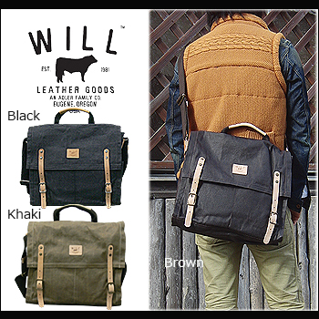 Will Leather Goods Toy Wax Coated Canvas Messenger 31186 Real 2 Way Uni Coating