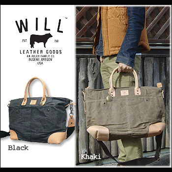 WILL LEATHER GOODS (will leather goods) Wax Coated Canvas Tote[31561]Thoth  leather genuine leather 3Way unisex canvas wax coating