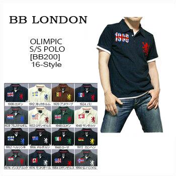 メール便送料無料 メール便の代金引換はできません BB LONDON ビービーロンドン S Olympic Polo お得セット オリンピック 500 レイヤードタイプ @16-Style 半袖ポロシャツ \7 全店販売中 国旗 smtb-KD