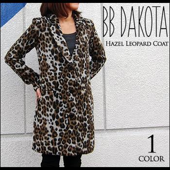 BB Dakota(ビービーダコタ) Hazel Leopard Coat[BD30717] ウール コート レオパード ヒョウ柄 レディース 細身【smtb-kd】
