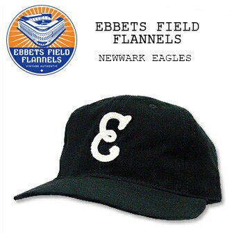 EBBETS FIELD FLANNELS (Ebbets Field flannels) BASEBALL CAP    5  Black  NEWARK EAGLES Cap   Hat   baseball another note one size fits most USA  cotton cotton 4476d66a235