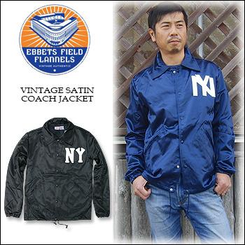 849d52320995d EBBETS FIELD FLANNELS (Ebbets Field flannels) VINTAGE SATIN COACH JK coach  jacket windbreaker NEW YORK BLACK YANKEES and BROOKLYN EAGLES and baseball  ...
