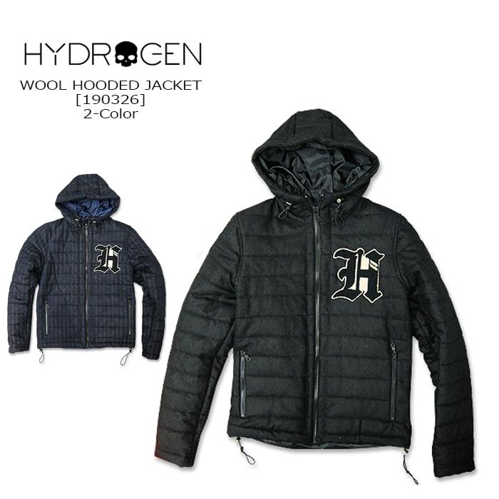 HYDROGEN(ハイドロゲン) WOOL HOOD JACKET[190326] ウールジャケット ジップパーカ ジャケット ITALY メンズ アウター スカル イタリア【\46,000】【smtb-kd】