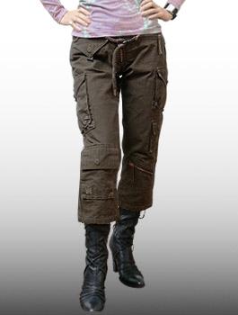 "A.Kurtz (選設備)-女士的褲子""不結盟運動""@Brown / 軍事褲子女裝棉 16"