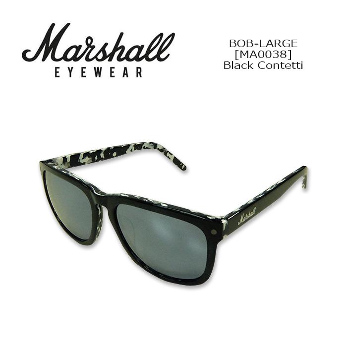 Marshall Eyewear(マーシャルアイウェア) SUNGLASS BOB-LARGE[MA0038] Black Contetti サングラス スクエア型 ボブL ギターアンプブランド 紫外線カット UVカット 【smtb-kd】