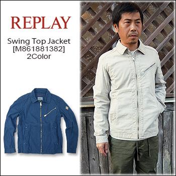 REPLAY(リプレイ) Swing Top Jacket[M861881382] 薄手 スウィングトップ コットン ジャケット 綿 メンズ アウター【smtb-kd】【\30,000】