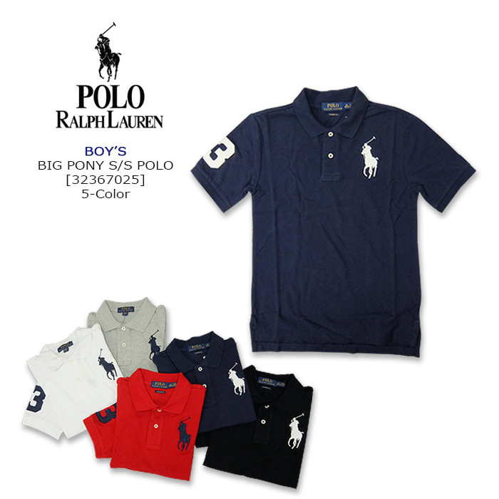 LaurenLaurenBoys 323200090Short Polo Ralph Pony5color Sleeves Ss Shirt Big OukTPZXi