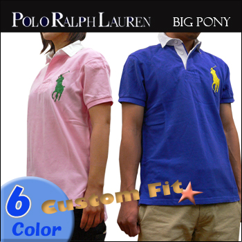 5b0984457d2e13 Big Pony S S Polo Custom Fit Polo Ralph Lauren (Polo Ralph Lauren)   6  color  K21SC02  big pony polo shirt Rugby Rugby cropped short sleeve custom  fit