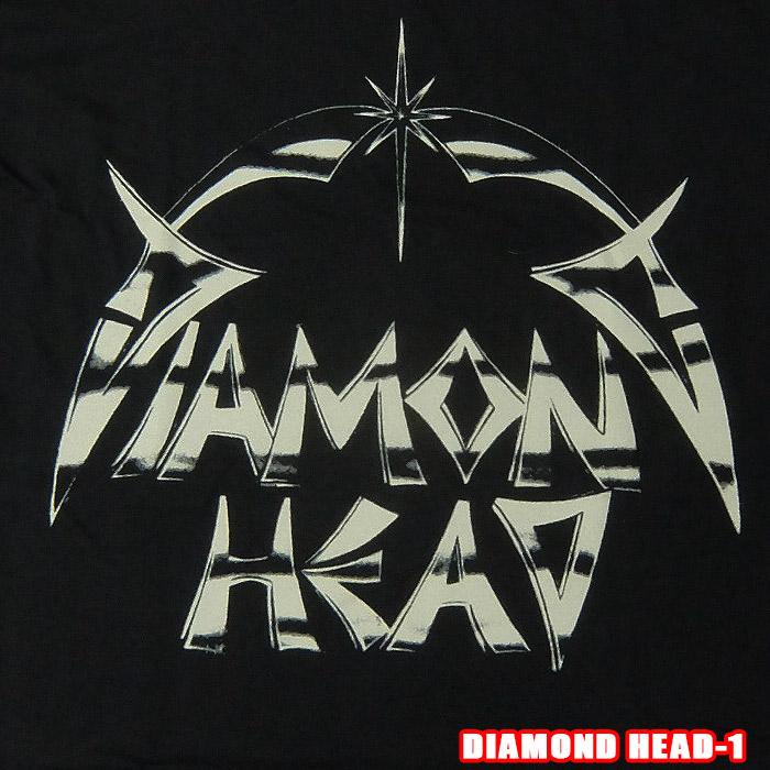 メール便送料無料 代引き不可 新品未使用 ROCK TEE DIAMOND HEAD-1 ダイアモンドヘッド ロックTシャツ 米国のオフィシャルライセンス 即納最大半額 DH LOGO 英国 バンドTシャツ smtb-kd