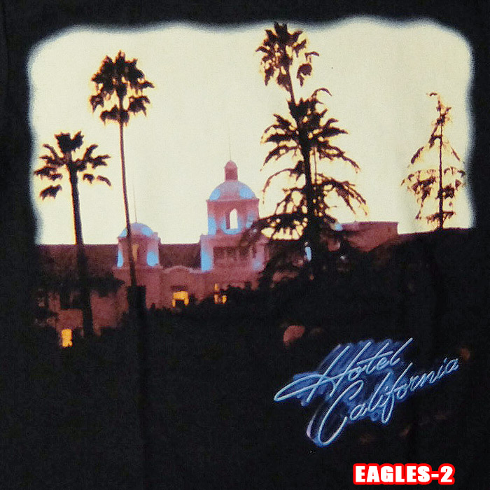 32b91d54 Official license of the ROCK TEE Eagles-2 [Eagles] Hotel california lock  T-shirt band T-shirt U.K. / United States