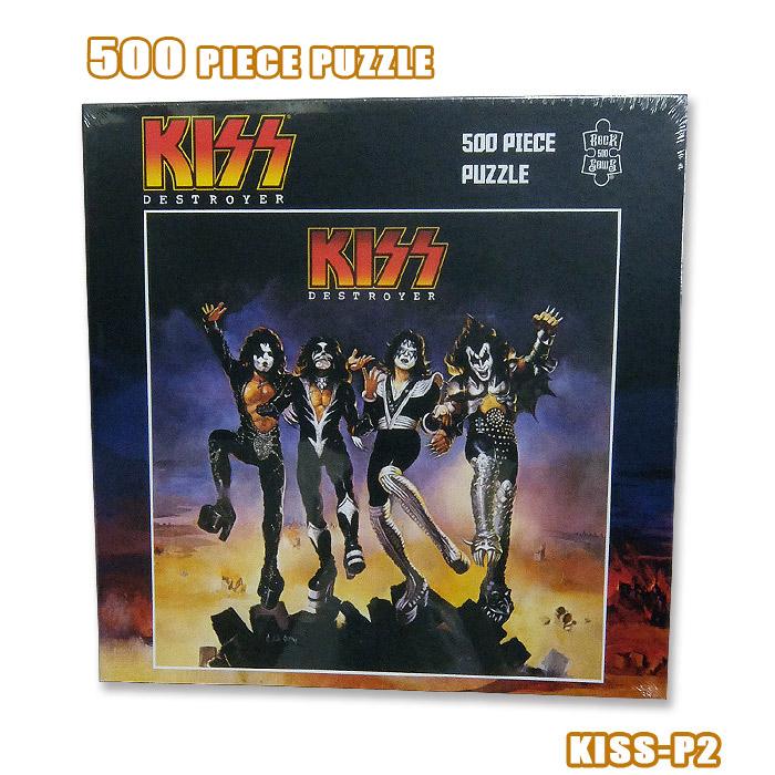 販売期間 限定のお得なタイムセール 英国 米国のオフィシャルライセンス ROCK JIGSAW PUZZLE KISS-P2 500ピース 500PIECE 信用 ジグソーパズル DESTROYER キッス