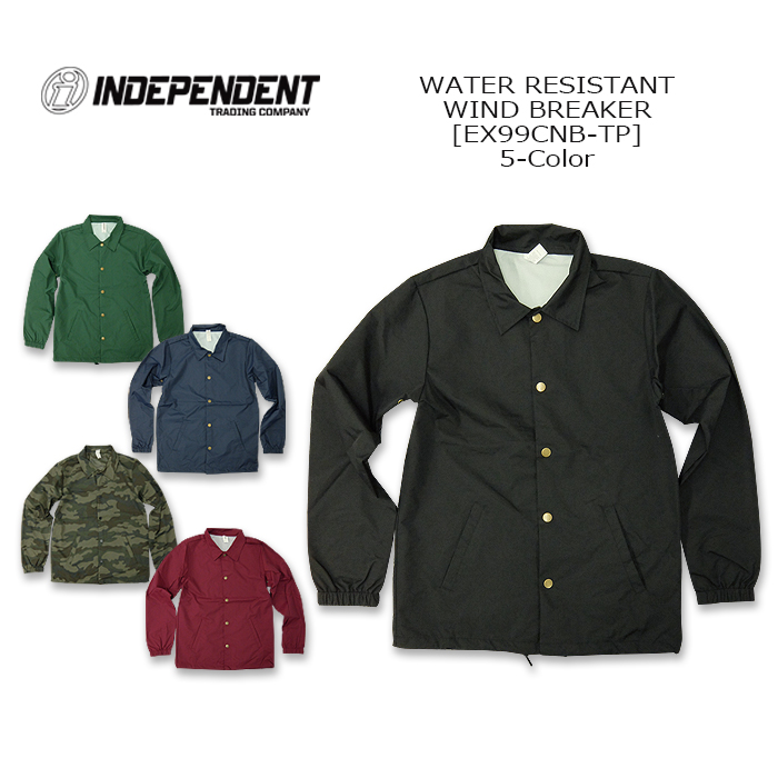 24004a5e6 The INDEPENDENT (independence) Water Resestant Wind Breaker [EXP99CNB-TP]  water repellency windbreaker coach jacket snap American casual men United  ...
