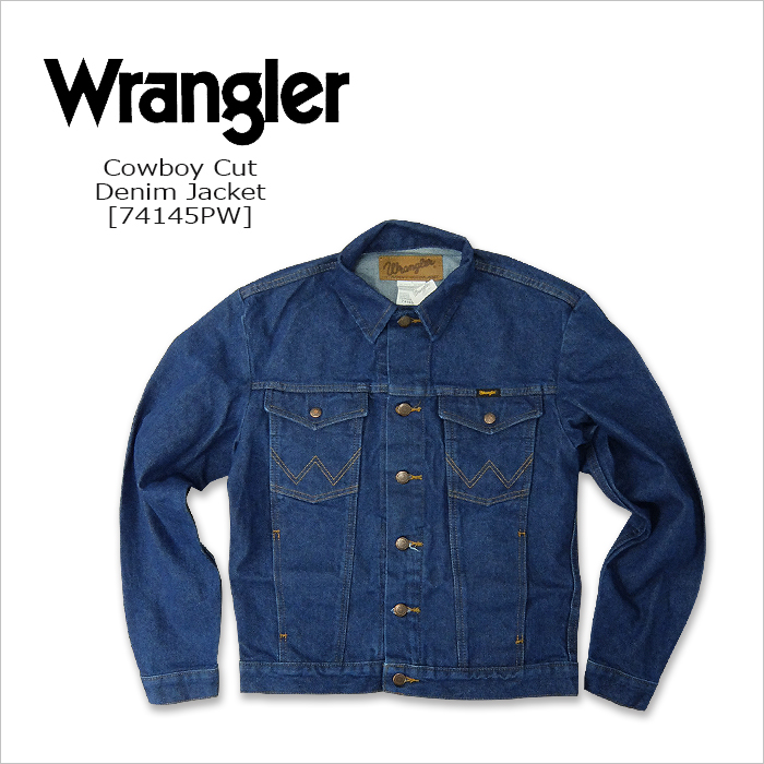74b2ded885 WEST WAVE  WRANGLER (Wrangler) DENIM JACKET  Cowboy Cut  74145PW  denim  jacket USA broken denim trucker jacket United States line MEXICO