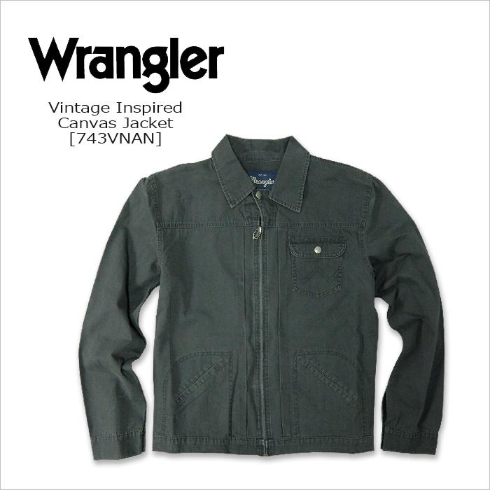 WRANGLER(ラングラー) CANVAS JACKET@ Vintage Inspired [743VNAN] コットンジャケット USA トラッカージャケット 米国ライン 【smtb-kd】
