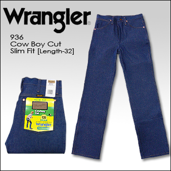 96ae2a4f74f WRANGLER (Wrangler) DENIM @ Cowboy Cut Slim Fit [936] length 32 still  washing the broken denim cowboy cut raw denim USA denim jeans straight  rigid ...