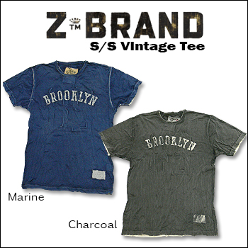 売り出し ビンテージ加工☆送料無料 一部地域は除く Z-BRAND ジーブランド S Vintage 800 \7 Tee ビンテージ加工 Tシャツ ダーティ 予約販売品