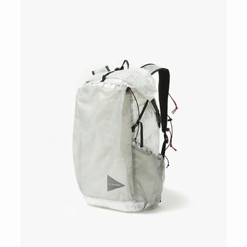 cubenfiberbackpack andwander(アンドワンダー)-0101white