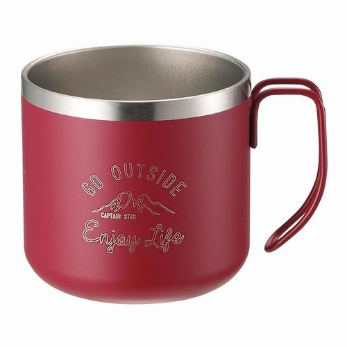 モンテダブルステンレスマグカップ350 誕生日プレゼント CAPTAINSTAG -レッド キャプテンスタッグ トレンド
