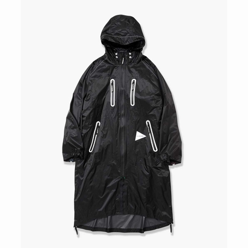 flyrainlongcoat andwander(アンドワンダー)(フライレインロングコート)-26black