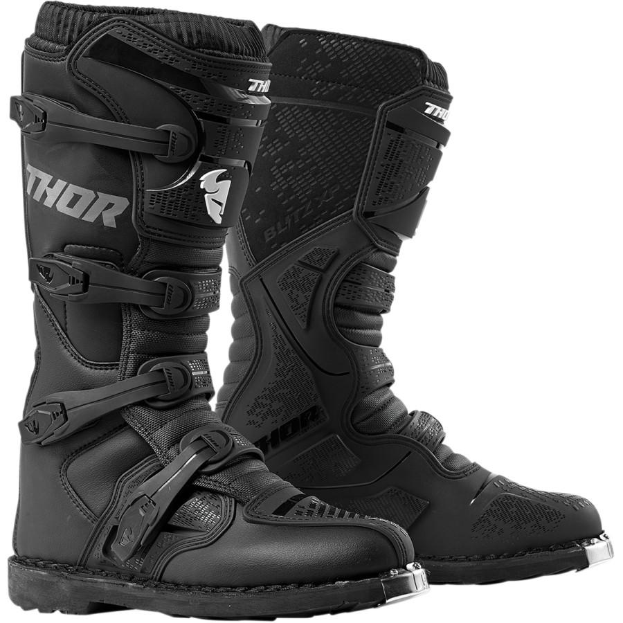 THOR [ソアー] ブーツ BLITZ XP [ブリッツXP] ブラック(MXソール仕様) 13インチ