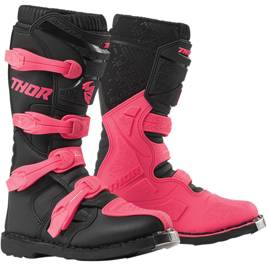 Red//Black 7 Thor MX Motocross Youth Blitz XP Boots