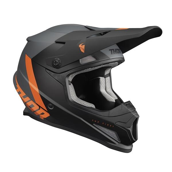 日本専用設計のTHOR SECTOR SGヘルメット THOR 22 大幅にプライスダウン 登場大人気アイテム SG ヘルメット CHEV MFJ公認 正規輸入品 オフロード チャコール PSC規格 オレンジ 日本専用設計 WESTWOODMX