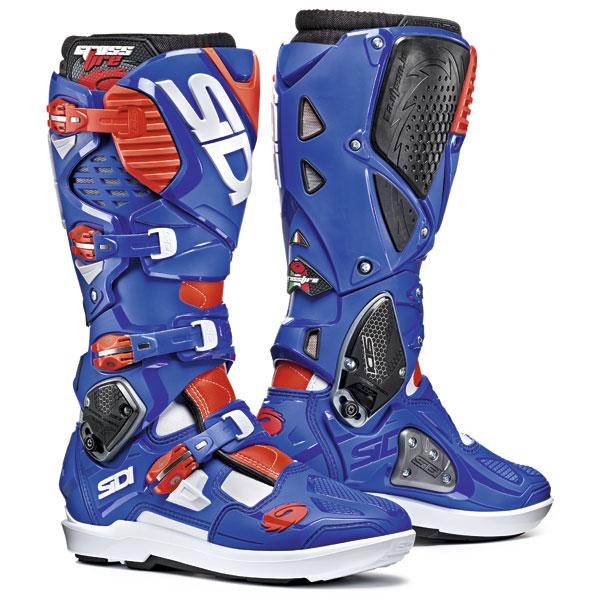 SIDI [シディ] ブーツ CROSS FIRE 3 SRS [クロスファイア3 SRS] ホワイト/ブルー/F レッド