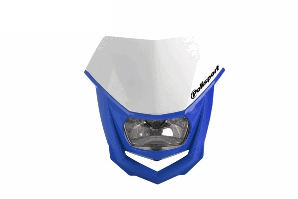ヘッドライト POLISPORT HALO 希少 WH BU 12V オフロード ハロゲンランプ仕様 35W 海外輸入 ポリスポーツ WESTWOODMX 正規輸入品