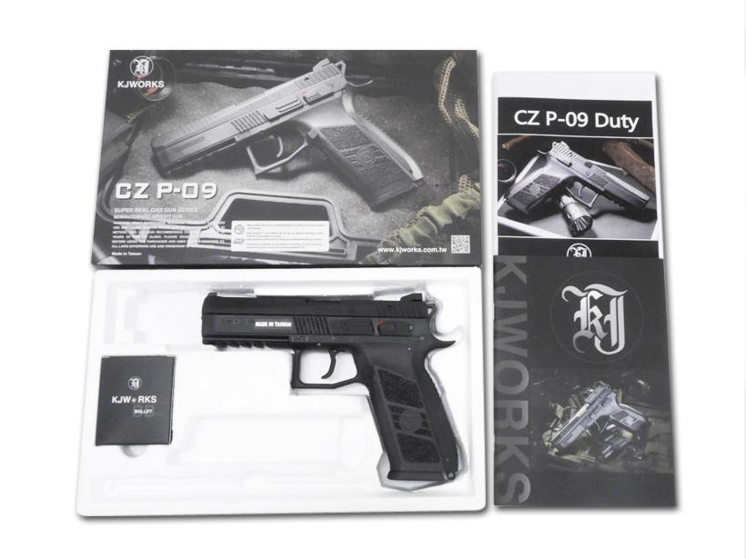 [KJWORKS] CZ P-09 DUTY メタルスライドVer. BK/ブラック/[中古] ランクB/本体のみ/ガスガン