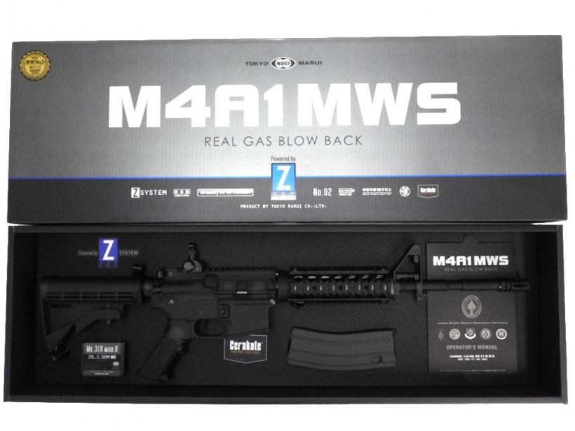 [東京マルイ] M4A1 MWS リアルガスブローバック/[未使用] ランクAA/欠品なし/ガスガン