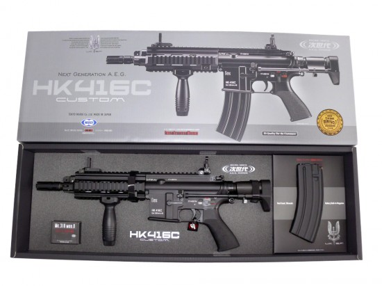 [東京マルイ] HK416C CUSTOM 次世代電動ガン/[中古] ランクB/外箱本体のみ 箱に傷みあり/電動ガン