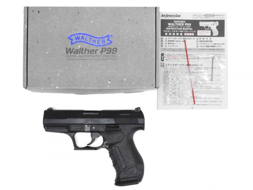 [マルゼン] Walther P99 ブローバック ブラック/[中古] ランクA/欠品なし/ガスガン